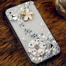 X10 luxury Bling Diamond Gem Flower Crystal Hard Case Cover for Various Phones