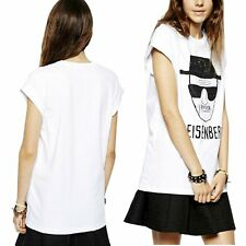 New Women Loose Summer Casual White Cotton Short Sleeve T-Shirt Tee Tops Blouse