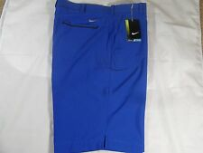New Mens Nike Golf Tour Trajectory Tech Standard Fit Shorts Blue $70 Rory Tiger