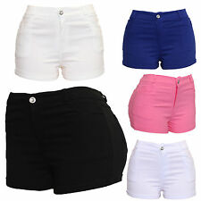 Ladies Women's Black Blue Sexy Hot Pants Club Party Stretchy Skinny Fit Shorts