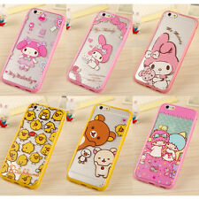 Cute Lovely Cartoon Soft TPU Hard PC Clear Case Cover for iPhone 6 6plus 5S