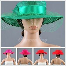 Women Kentucky Derby Church Hat Sinamay Wide Brim Wedding Dress Tea Party Hat