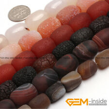 """Vintage Frost Column Gemstone Jewelry Making Beads Spacer Craft Strand 15"""""""