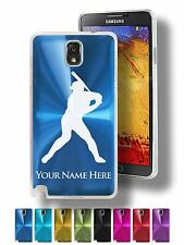Personalized Case For Galaxy Note 3 & 4 - BASEBALL PLAYER, BATTER, BATTING, BAT
