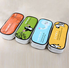 Cartoon PU Animal Student Pen Pencil Case Cosmetic Travel Makeup Bags Stationery