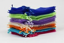 25/50/100 PCS 9x12cm Organza Jewelry Candy Gift Pouch Bags Wedding Party Favors