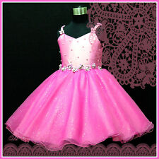 HP875 Hot Pinks Prince Wedding Dance Party Flower Girls Party Dress SIZE 2 - 10Y