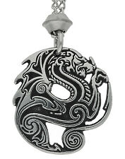 Handmade Beowulf Mighty Dragon Chain Pewter Pendant ~ Heroism and Valour Symbol