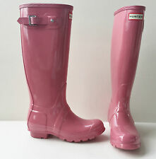 HUNTER ORIGINAL TALL RAIN BOOTS RHODONITE PINK GLOSS