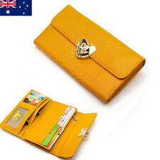 Quality Genuine Leather Ladies Womens Tri-Fold Wallet Purse Zip Coins New