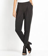 Eileen Fisher Charcoal Cozy Viscose Stretc Jersey Slouchy Ankle Pants XS S M New