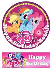My Little Pony Personalized Edible Cake toppers 7 Inch/ cupcakes  Precut