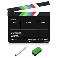 Hollywood Movie Film Dry Erase Clapboard Slate Cut Action Scene 10x12