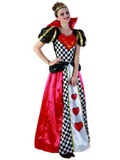 Adult Fairytale Queen Of Hearts Outfit Fancy Dress Costume Storybook Ladies