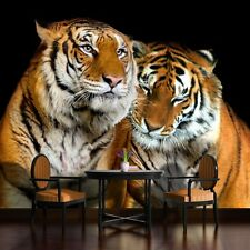 PHOTO WALL MURAL WALLPAPER WALLCOVERING HOME DECOR TIGERS CATS PICTURE  130VE
