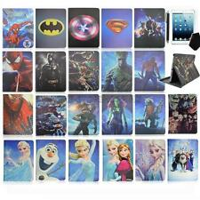 For iPad tablet Super Hero Cartoon frozen Folding Folio Leather Case covers gift