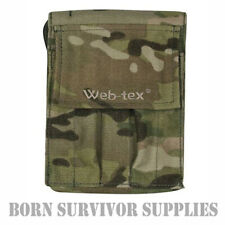 Web-tex A6 NOTEPAD HOLDER - Notebook Cover Pouch Folder Army DPM Camo or Black