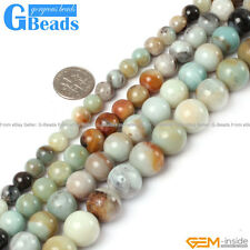 "Natural Colorful Amazonite Gemstone Round Beads Free Shipping 15"" 4mm 6mm 8mm"