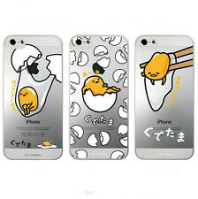 Cute Catoon Japanese Gudetama Egg Clear Case Cover For IPhone 5 5s 5c 6 6 plus