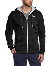 Under Armour Men's CC Storm Rival Zippered Sweatshirt, Black/white/white, Large
