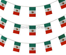 MEXICAN BUNTING HUGE 100FT FLAG DECORATION 60 FLAGS 30 METRES FANCY DRESS PARTY