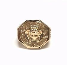 18k Gold Plated Medusa Head-Versace-Style Ring Size: 7, 8, 9, 10