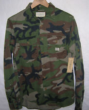 new Ralph Lauren Denim & Supply camo twill military shirt army BDU, NWT, S, M