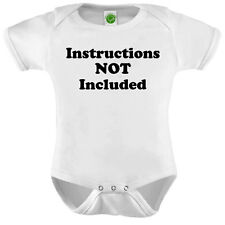 Instructions Not Included Onesie ORGANIC Cotton Romper Baby Shower Gift Funny Pr