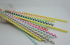 25 Colorful Paper Drinking Straws Square Pattern Straws Wedding Birthday Party