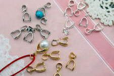 New 15pcs Silver/Golden Tone 18KGP Pinch Clip Bail Connector For Necklace Making