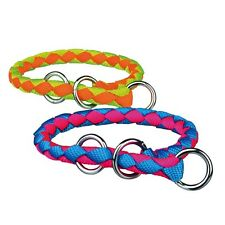 Pet Dog Training Round Braid Nylon Choke Collar Neon Color All Sizes by Trixie