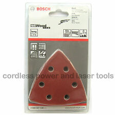 10 Bosch WOOD Delta Velcro Sanding Sheets Mix Grit for Casals BLD180 2608607540
