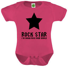 Rock Star Onesie ORGANIC Cotton Romper Baby Shower Gift Funny Present