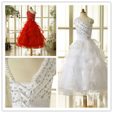 Newest Crystal Prom Dress Flower Girls Dress Formal Evening Cocktail Party Gowns