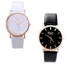 Fashion Women Lady Dress Watch Roman Leather Band Analog Quartz Wrist Watch