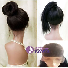 Hot Full lace wig Silk straight 100% remy human hair wigs baby hair free tangle