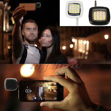 New Mini Smart 3.5mm Selfie 16 LED Camera Flash Light for IOS Android iPhone
