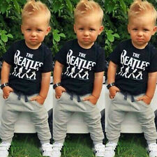 2PCS Causal Kids Baby Boy Clothes T-Shirt + Trousers Sports Pants Outfit 2-6Y