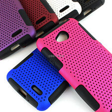 For LG Optimus Exceed 2 Realm Ultimate 2 APEX Hybrid Gel Hard Case Cover