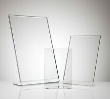 Acrylic Menu Poster Holder Perspex Leaflet Display Stands - Bulk Buy - A4 A5 DL