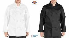 Dickies Chef Coat 8 button Unisex Womens Mens Long Sleeve Chef Jackets DC118