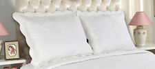 All For You-2 PC quilted pillow shams- standard size-embroidery
