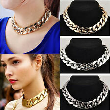 Collana Girocollo Punk Metallo intrecciato Statement Bib Necklace Choker Donna