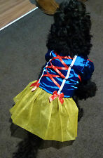NEW PET DOG PUPPY / CAT SNOW WHITE DISNEY PRINCESS COSTUME DRESS UP OUTFIT