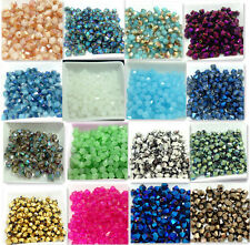 New 50pcs Faceted bicone crystal glass jade  loose Spacer beads 6mm Wholesale