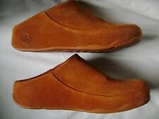 Womens Fitflop Gogh Moc Clogs Deep Orange Umber Shoes Choose Size 7