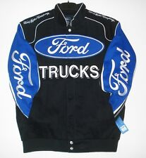 Authentic Ford Truck Embroidered Cotton Jacket JH Design Black New
