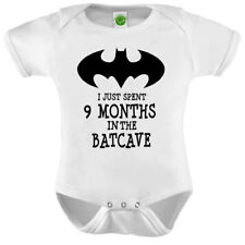 I Just Spent 9 Months In The Batcave Onesie ORGANIC Cotton Romper Baby Shower Gi