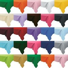 "10 x Plastic Tablecloths Solid Color 108"" x 54"" Bulk Wholesale Choice of Colors"