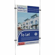 Easy Access Cable Display Poster Holder Acrylic Shop Window Wire Retail Stand